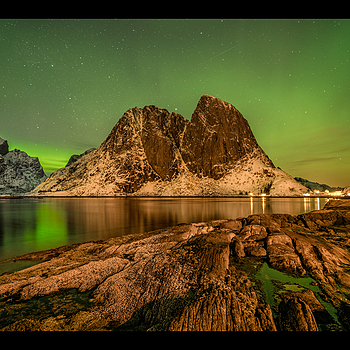 Hamnøy   Northern Lights | LENS MODEL NOT SET <br> Click image for more details, Click <b>X</b> on top right of image to close