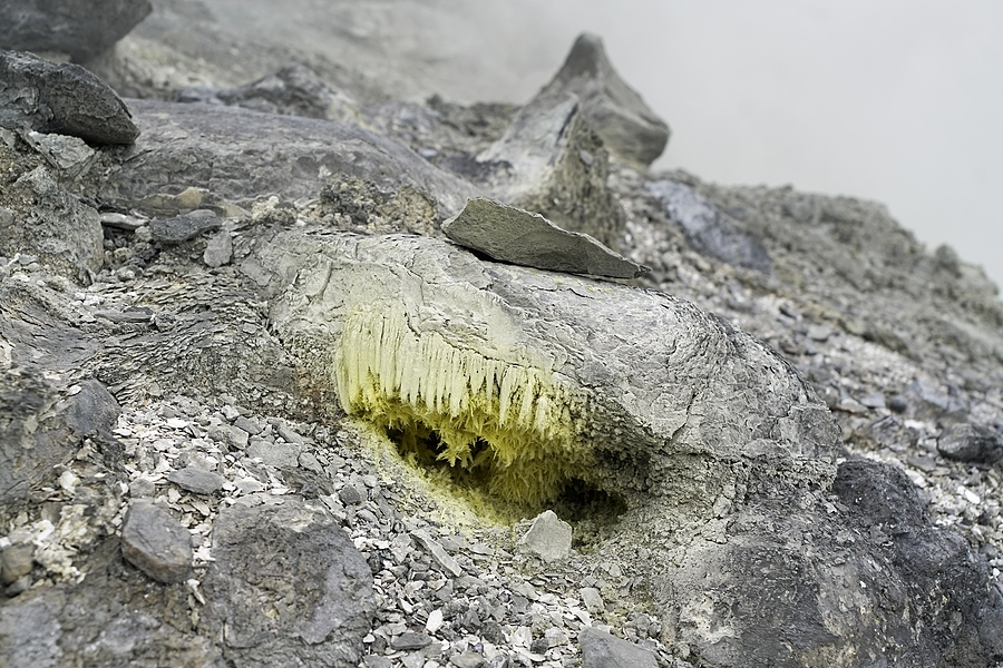 Sulfur fumes from volcano hole | ZEISS 645 DISTAGON 35MM F3.5 <br> Click image for more details, Click <b>X</b> on top right of image to close