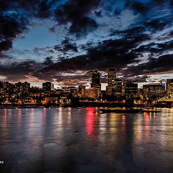 PDX Waterfront at Dusk | ZEISS DISTAGON F2 25MM