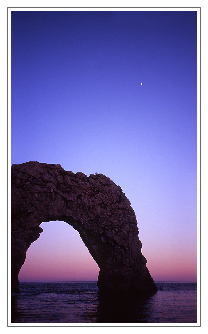 Durdle Door and Crescent Moon | LENS MODEL NOT SET <br> Click image for more details, Click <b>X</b> on top right of image to close