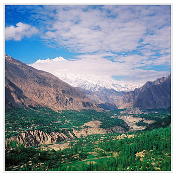 Hunza Valley with Rakaposhi | ZEISS PLANAR 75MM F3.5 TLR