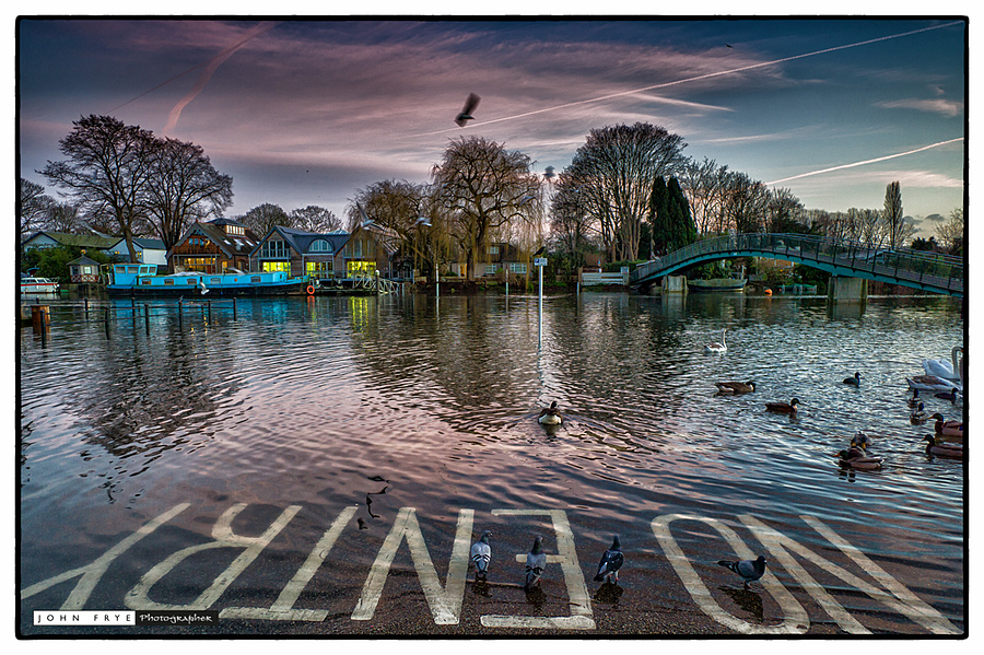High tide and sunset,on the Thames at Twickenham | ZEISS ZM BIOGON F2.8 21MM <br> Click image for more details, Click <b>X</b> on top right of image to close