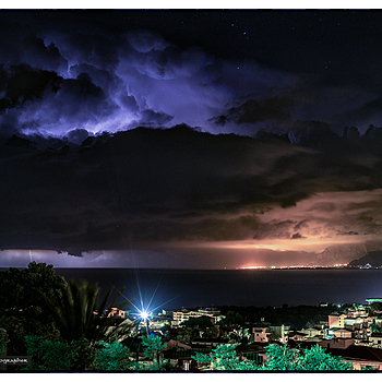 Electrical storm out to sea, Sicily | ZEISS ZM PLANAR F2.0 50MM <br> Click image for more details, Click <b>X</b> on top right of image to close