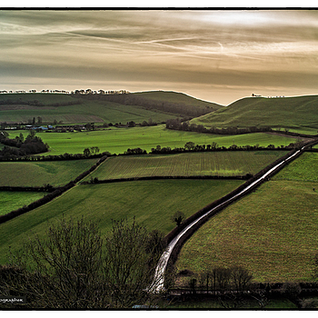 South from Cadbury Castle, Somerset, UK