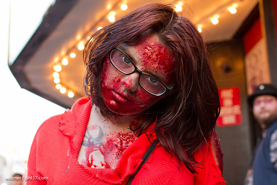 Bloodl Zombie at Philly Zombie Crawl | ZEISS ZS DISTAGON F2.0 35MM <br> Click image for more details, Click <b>X</b> on top right of image to close