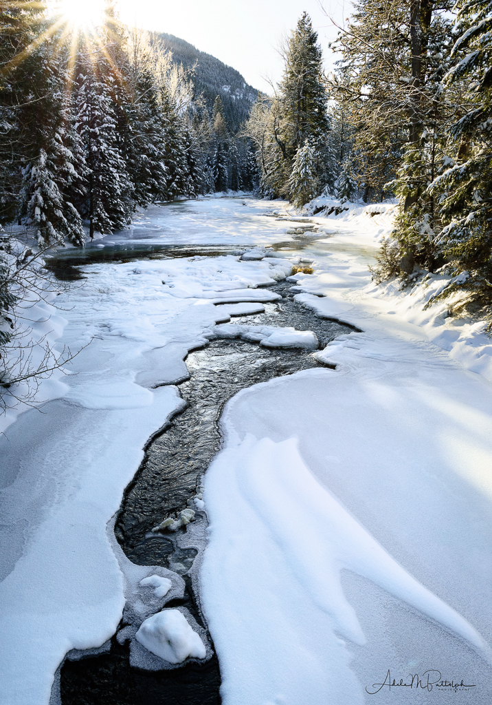 Winter on Lostine River, Oregon | ZEISS DISTAGON F2 28MM <br> Click image for more details, Click <b>X</b> on top right of image to close