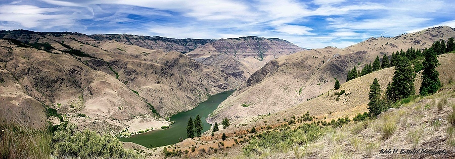 Composite image of Snake River/Hells Canyon | ZEISS DISTAGON F2.8 25MM <br> Click image for more details, Click <b>X</b> on top right of image to close