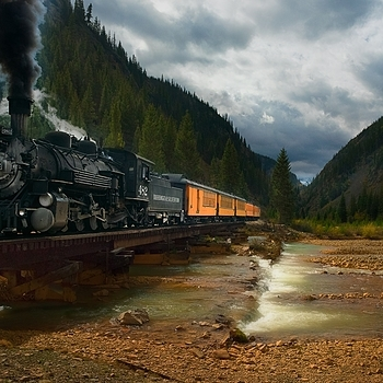 Durango and Silverton Railroad, Colorado | ZEISS DISTAGON F2 25MM <br> Click image for more details, Click <b>X</b> on top right of image to close