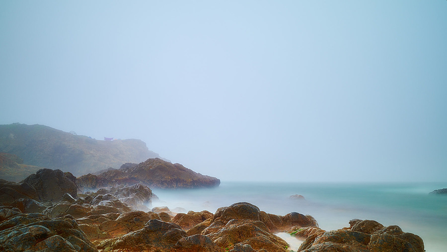 Rocks in Sea Fog | ZEISS DISTAGON F2 25MM <br> Click image for more details, Click <b>X</b> on top right of image to close