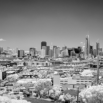 San Francisco Skyline - SOMA - Infrared | ZEISS SONNAR 55MM F1.8 FE ZA <br> Click image for more details, Click <b>X</b> on top right of image to close