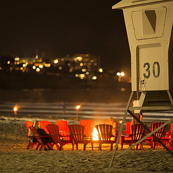 Red Beach Chairs | ZEISS APO SONNAR F2 135MM <br> Click image for more details, Click <b>X</b> on top right of image to close