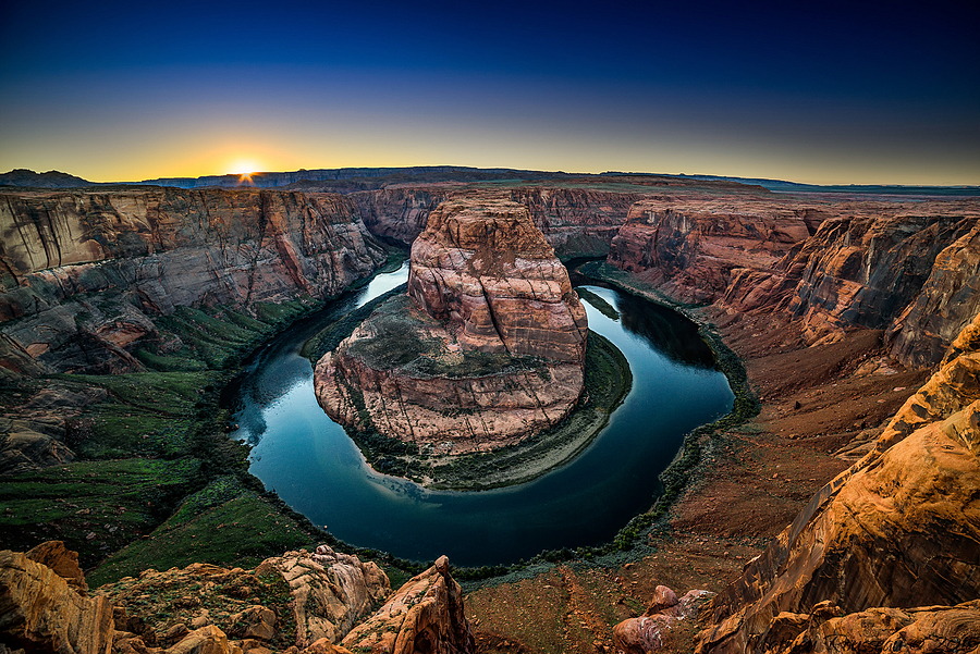 Horseshoe Bend - Sunset | LENS MODEL NOT SET <br> Click image for more details, Click <b>X</b> on top right of image to close