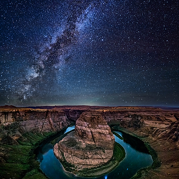 Horseshoe Bend - Milky Way | LENS MODEL NOT SET <br> Click image for more details, Click <b>X</b> on top right of image to close