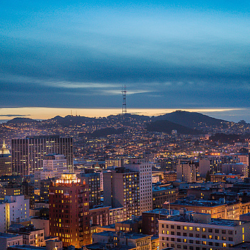 Sutro Tower Cityscape | ZEISS SONNAR 55MM F1.8 FE ZA <br> Click image for more details, Click <b>X</b> on top right of image to close