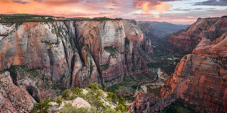 Zion ~ Observation Point Sunset | LENS MODEL NOT SET <br> Click image for more details, Click <b>X</b> on top right of image to close