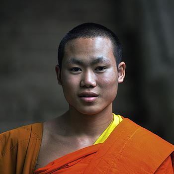 Novice Monk, Luang Prabang, Laos | ZEISS APO SONNAR F2 135MM