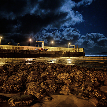 Low Tide, Full Moon | ZEISS DISTAGON F2 28MM <br> Click image for more details, Click <b>X</b> on top right of image to close