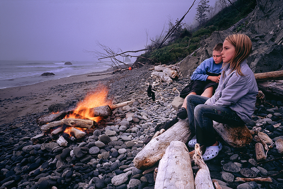 Camping on a wild beach in olympic Nat. Park, Washington. | LENS MODEL NOT SET <br> Click image for more details, Click <b>X</b> on top right of image to close