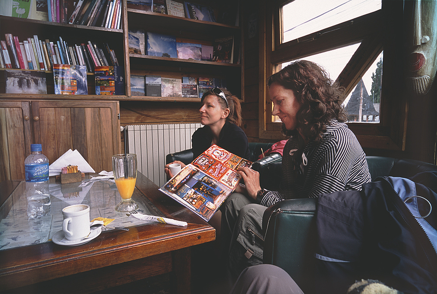 Malgosia and Monika. Polish Backpackers. El Calafate, Patagonia, Argentina. | LENS MODEL NOT SET <br> Click image for more details, Click <b>X</b> on top right of image to close