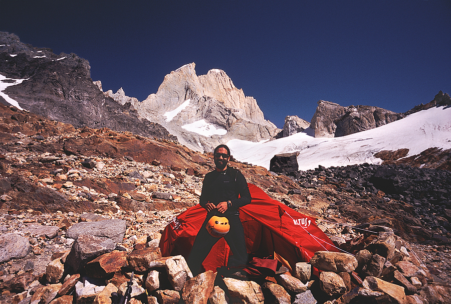 Cesar Mt. Fitzroy Base Camp. Patagonia, Argentina. | LENS MODEL NOT SET <br> Click image for more details, Click <b>X</b> on top right of image to close