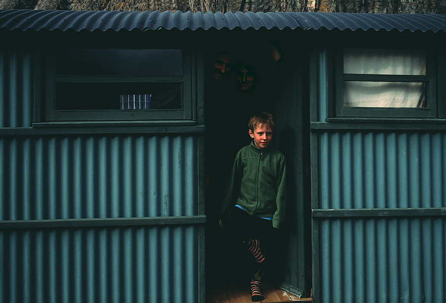 Maksi. Polish Hitchhiker with Family in Their Rented Cabin. El Chalten, Argentina. | ZEISS ZM BIOGON F2.0 35MM <br> Click image for more details, Click <b>X</b> on top right of image to close