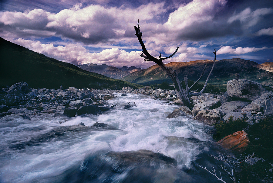 Downstream Rio Blanco. Patagonia, Argentina. | ZEISS ZM C BIOGON F4.5 21MM <br> Click image for more details, Click <b>X</b> on top right of image to close