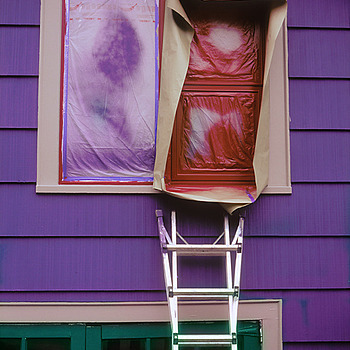 Painted House Detail. Seattle. | ZEISS G PLANAR 45MM F2