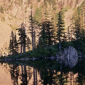 Thompson Lake Island. Washington Cascades.