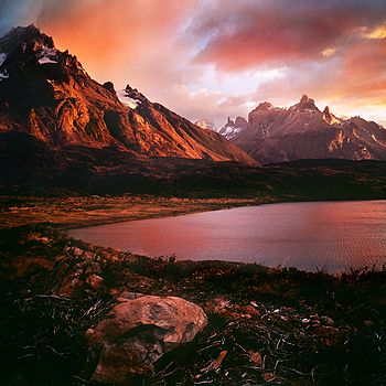 Paine Grande and Cuernos del Paine, Patagonia, Chile | ZEISS ZM C BIOGON F4.5 21MM <br> Click image for more details, Click <b>X</b> on top right of image to close