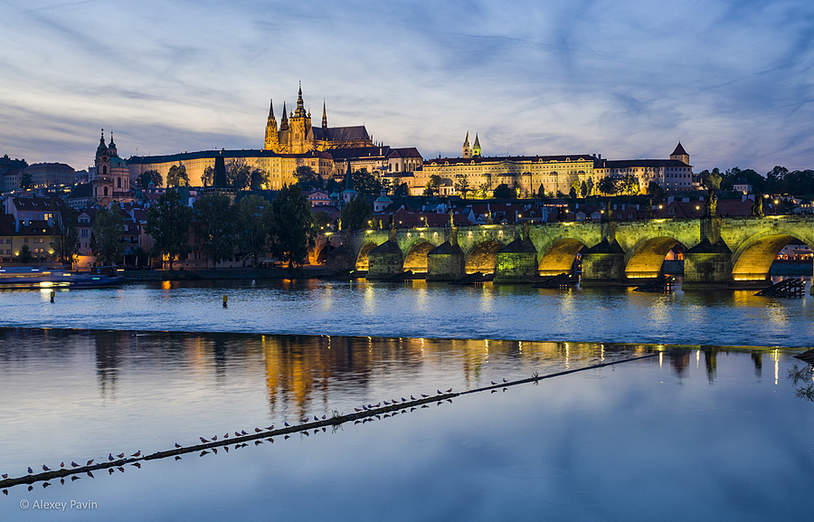 Panorama view with Prague castle and Vltava river | ZEISS OTUS DISTAGON 55MM F1.4 <br> Click image for more details, Click <b>X</b> on top right of image to close