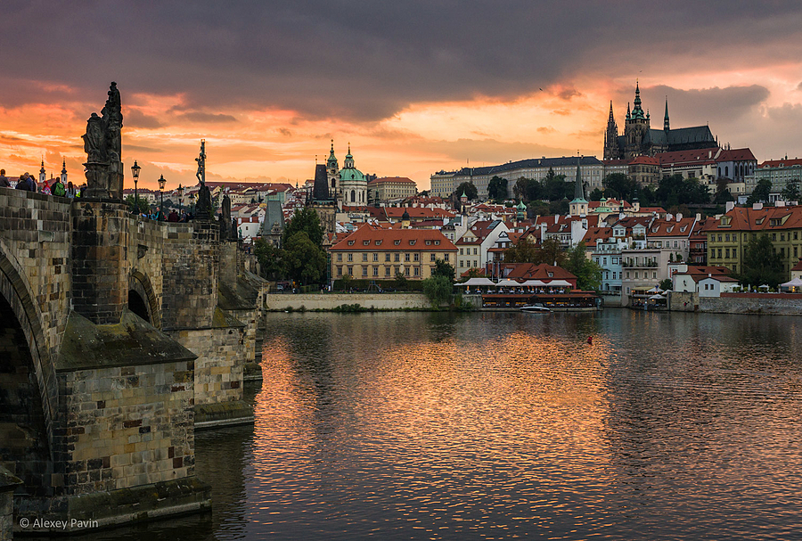 Sunset in Prague city | ZEISS OTUS DISTAGON 55MM F1.4 <br> Click image for more details, Click <b>X</b> on top right of image to close