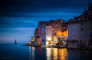 View of the evening Rovinj