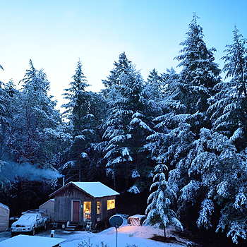 Snowy Christmas Morning, My Cabin, 2015 | ZEISS DISTAGON F2.8 21MM