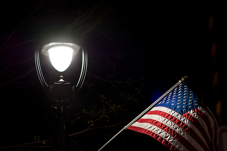 Old Glory at Night - Raleigh North Carolina | ZEISS MAKRO PLANAR F2.0 100MM <br> Click image for more details, Click <b>X</b> on top right of image to close