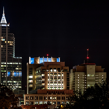 Raleigh at Night | ZEISS APO SONNAR F2 135MM