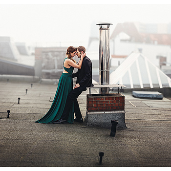 Rooftop Romance | ZEISS APO SONNAR F2 135MM <br> Click image for more details, Click <b>X</b> on top right of image to close