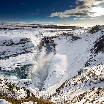 Gullfoss Iceland | ZEISS VARIO-TESSAR T* FE 16-35MM F4 ZA OSS <br> Click image for more details, Click <b>X</b> on top right of image to close
