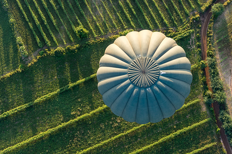 Balloon from above | ZEISS SONNAR 55MM F1.8 FE ZA <br> Click image for more details, Click <b>X</b> on top right of image to close