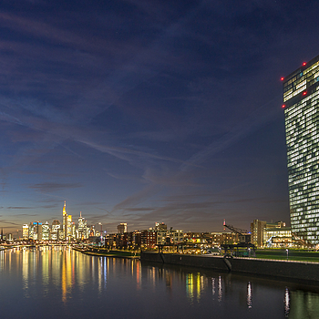 Frankfurt ECB and skyline | ZEISS VARIO-TESSAR T* FE 16-35MM F4 ZA OSS <br> Click image for more details, Click <b>X</b> on top right of image to close