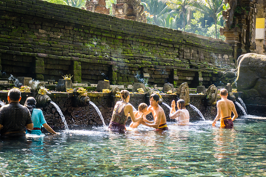 Family Bathing at Holy Water Spring | LENS MODEL NOT SET <br> Click image for more details, Click <b>X</b> on top right of image to close