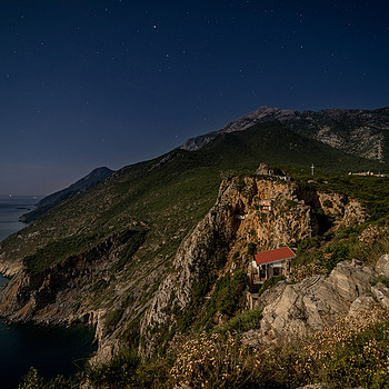 Mount Athos night | ZEISS VARIO-TESSAR T* FE 16-35MM F4 ZA OSS <br> Click image for more details, Click <b>X</b> on top right of image to close