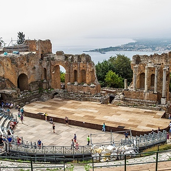 Taormina Amphitheatre | ZEISS DISTAGON F2.8 21MM <br> Click image for more details, Click <b>X</b> on top right of image to close