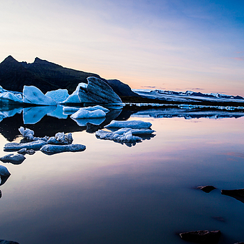 Ice Lagoon Sunset | ZEISS DISTAGON F2.8 21MM <br> Click image for more details, Click <b>X</b> on top right of image to close