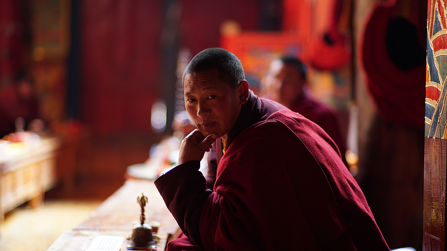A distracted Monk | ZEISS PLANAR F1.4 85MM <br> Click image for more details, Click <b>X</b> on top right of image to close