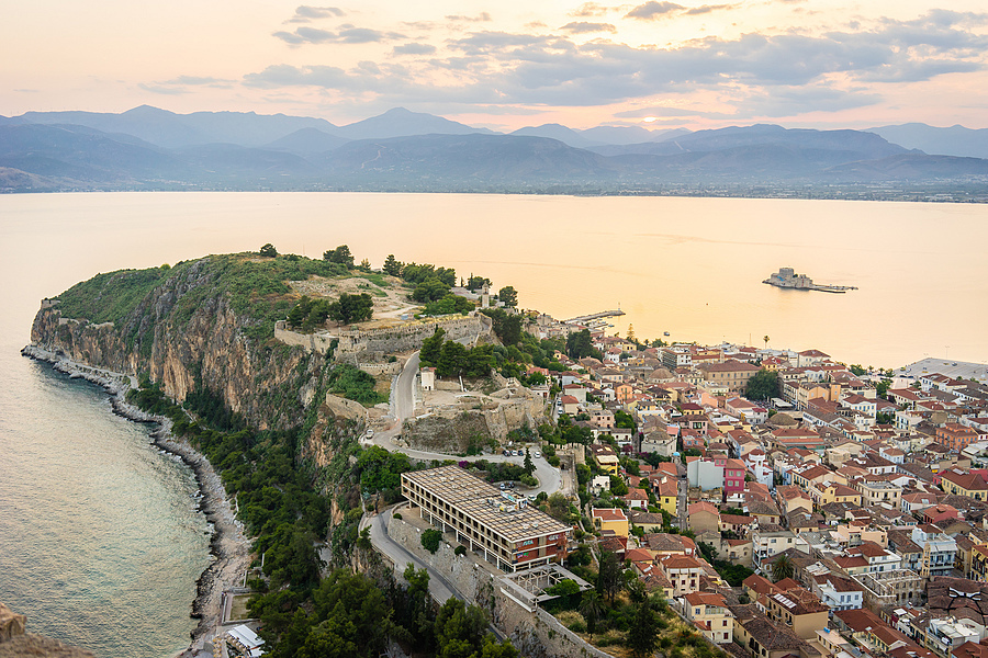 Nafplio from the fortress | ZEISS FE 35MM F2.8 ZA <br> Click image for more details, Click <b>X</b> on top right of image to close