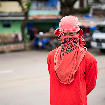 Man in Red | ZEISS SONNAR 55MM F1.8 FE ZA <br> Click image for more details, Click <b>X</b> on top right of image to close