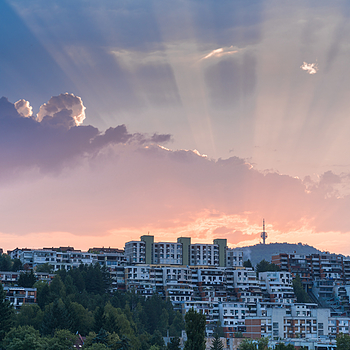 Sarajevo Sunset | ZEISS SONNAR 55MM F1.8 FE ZA <br> Click image for more details, Click <b>X</b> on top right of image to close