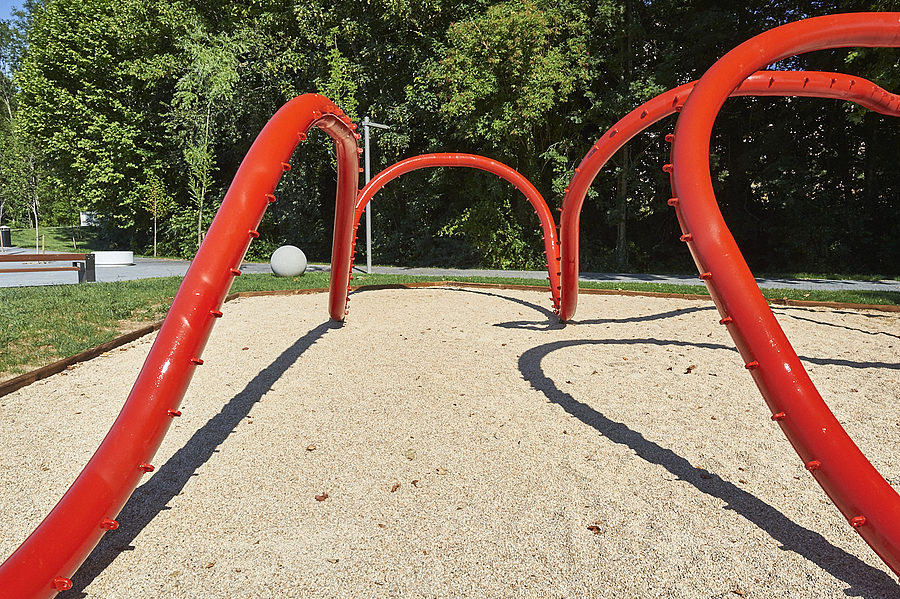Red pipeline in Kids playground | LENS MODEL NOT SET <br> Click image for more details, Click <b>X</b> on top right of image to close