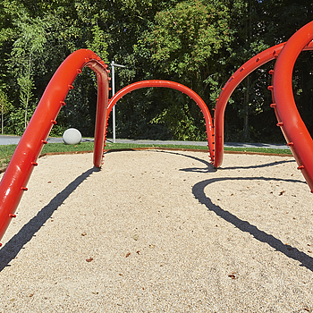 Red pipeline in Kids playground | LENS MODEL NOT SET