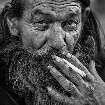 Man with nails | ZEISS ZA SONNAR 135MM F1.8 <br> Click image for more details, Click <b>X</b> on top right of image to close